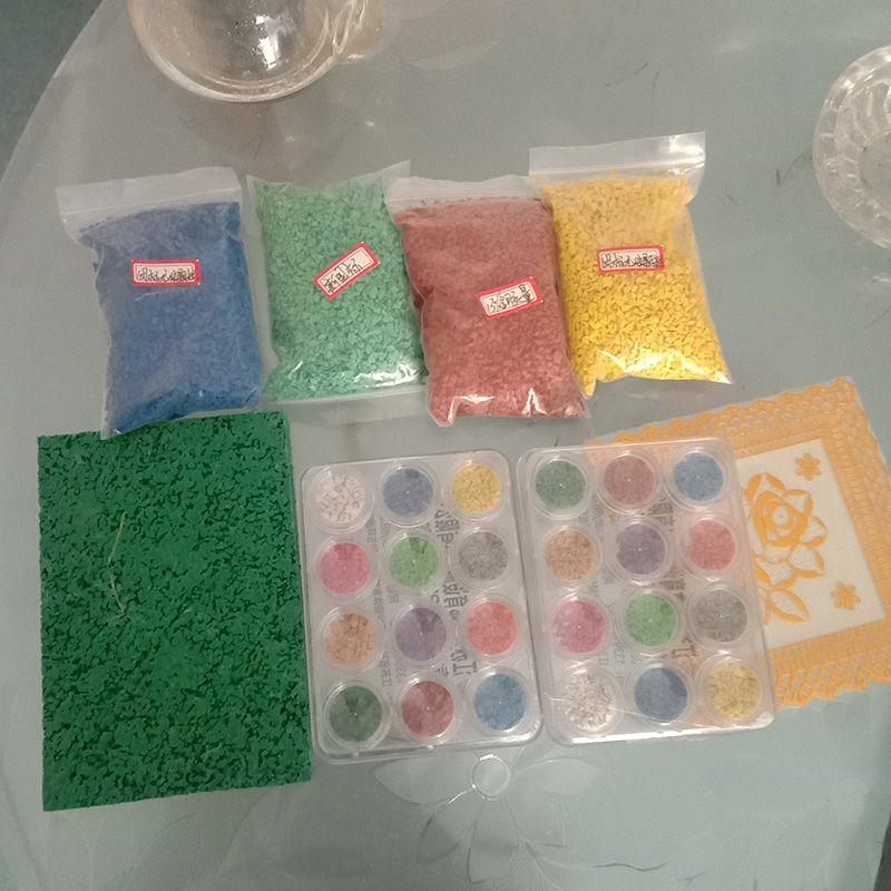 塑胶跑道及原料展示